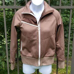 Columbia Brown Zipper Sweatshirt